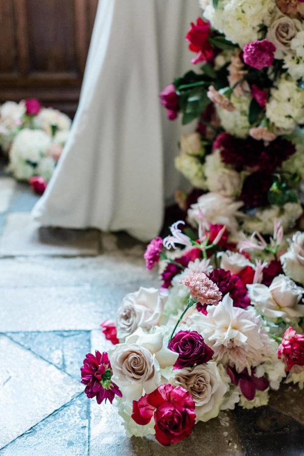 décoration florale château de Saint-Martory