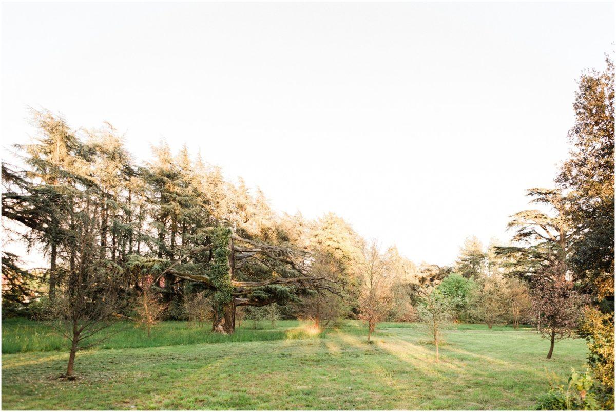 vue sur le parc du domaine de montjoie