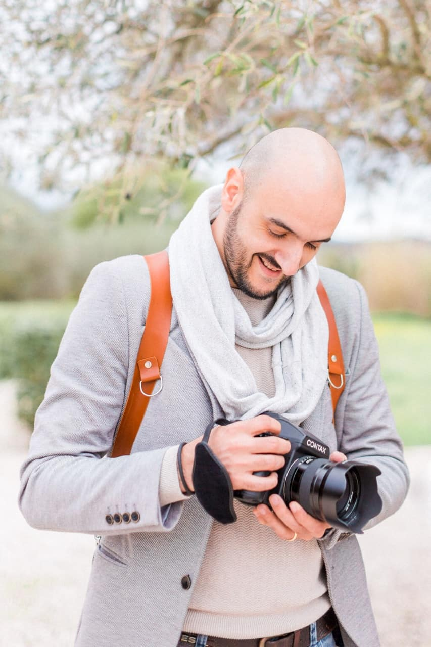 photographe mariage contax 645 portrait photo