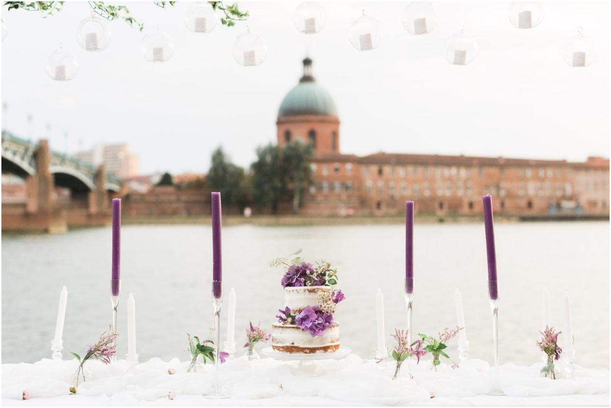 wedding cake sur une table