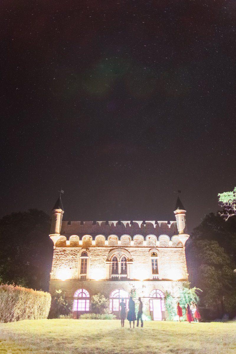 chateau de caumont la nuit