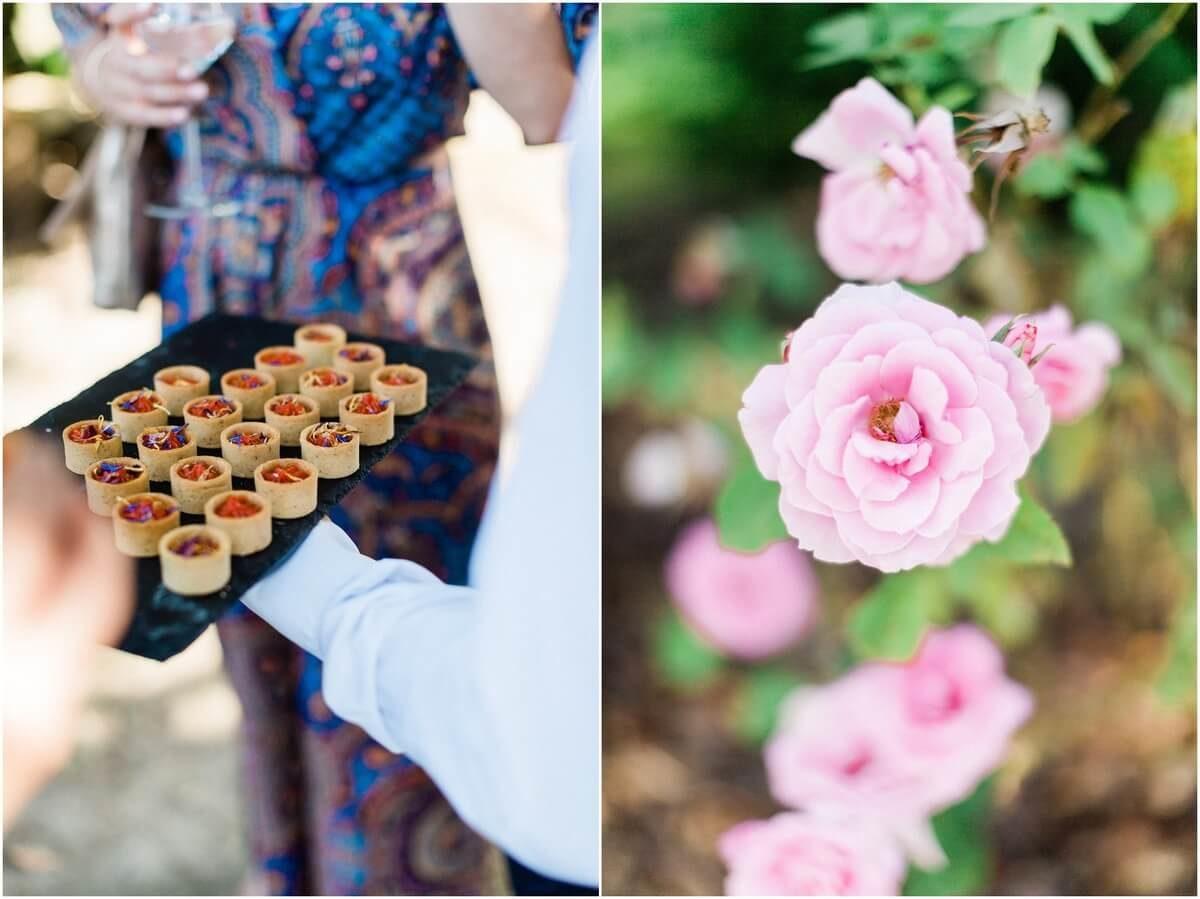 diptyque au domaine de ronsac cocktail et une rose