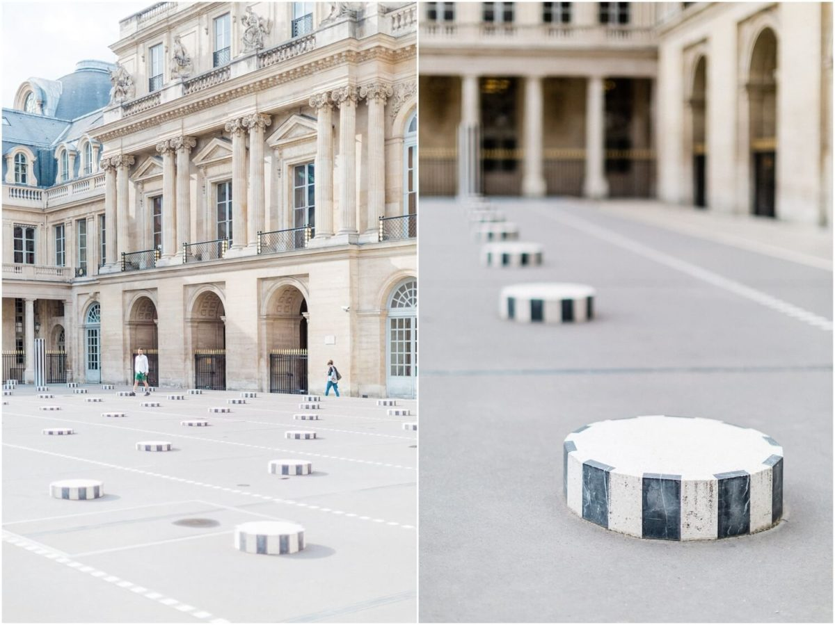 diptyque du palais royal pendant la seance photo couple paris