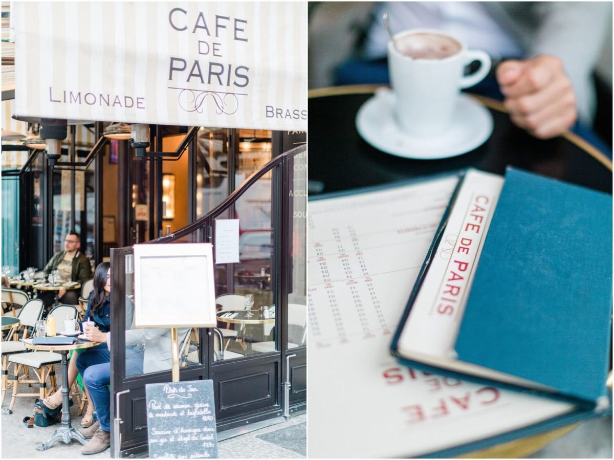diptyque détails photo d'un café pendant la seance photo couple paris
