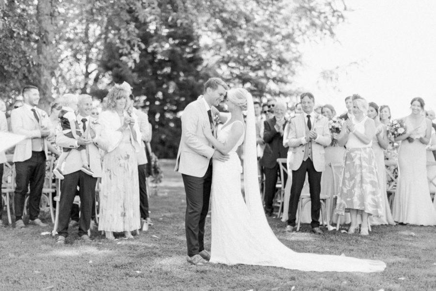 wedding ceremony at chateau de varennes
