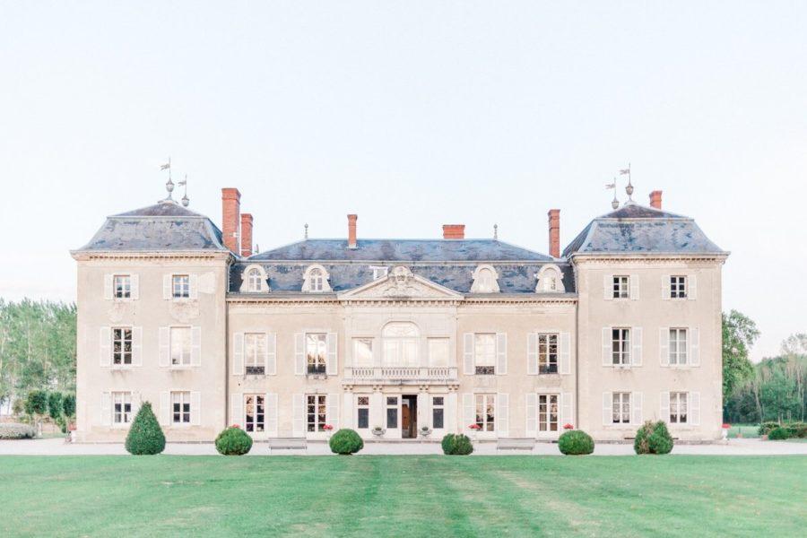 vue de la façade du chateau de varennes