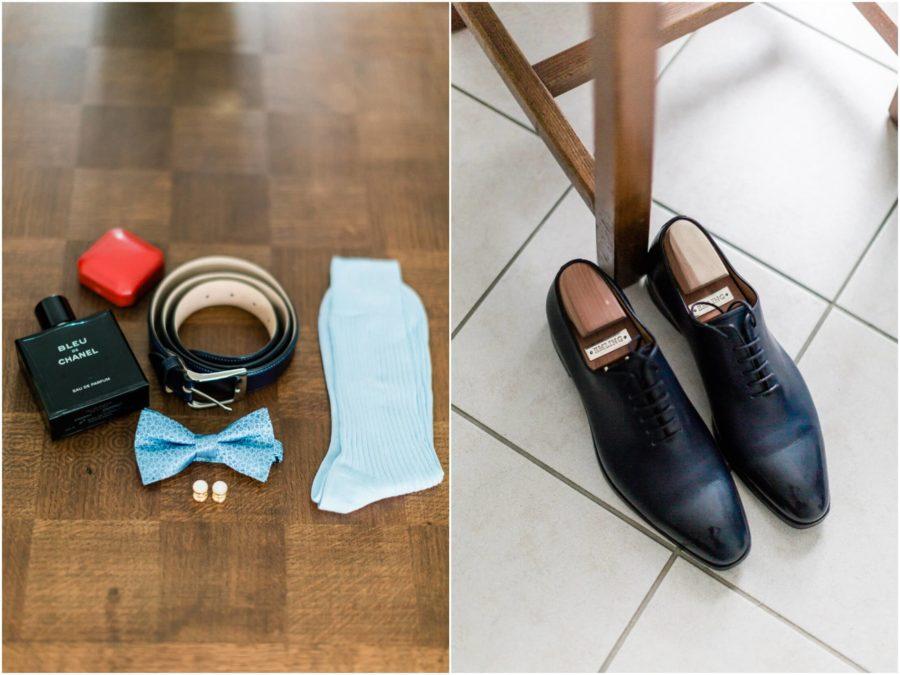 dyptique chaussure du marié et accessoire du marié