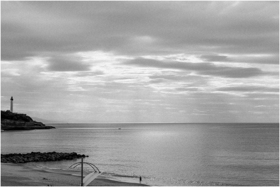 paysage plage de biarritz