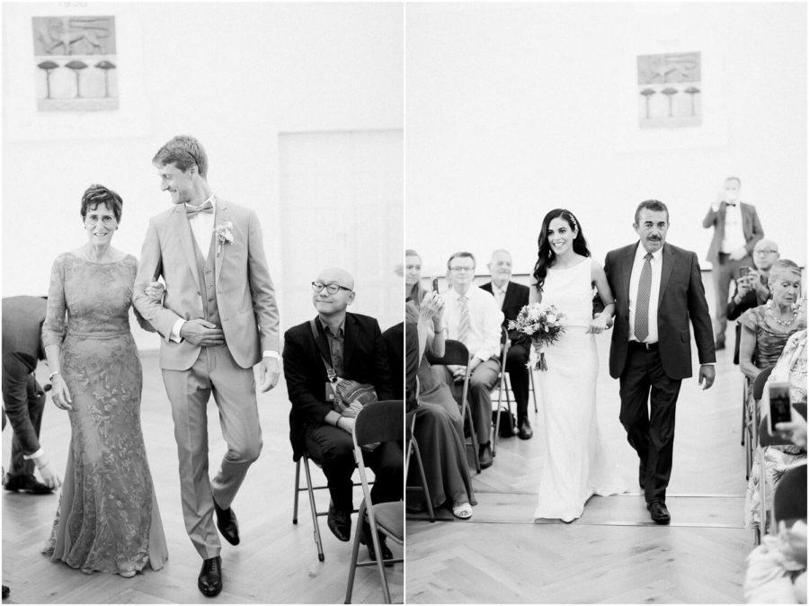 dyptique entrée des mariés dans la mairie d'anglet