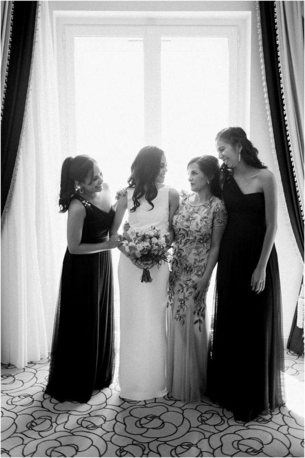 photos de groupe mariée et demoiselle d'honneur
