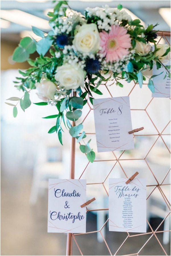 décoration espace ocean durant le mariage