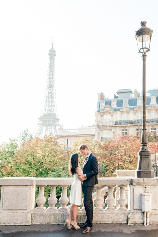 couple with eiffel tower in background