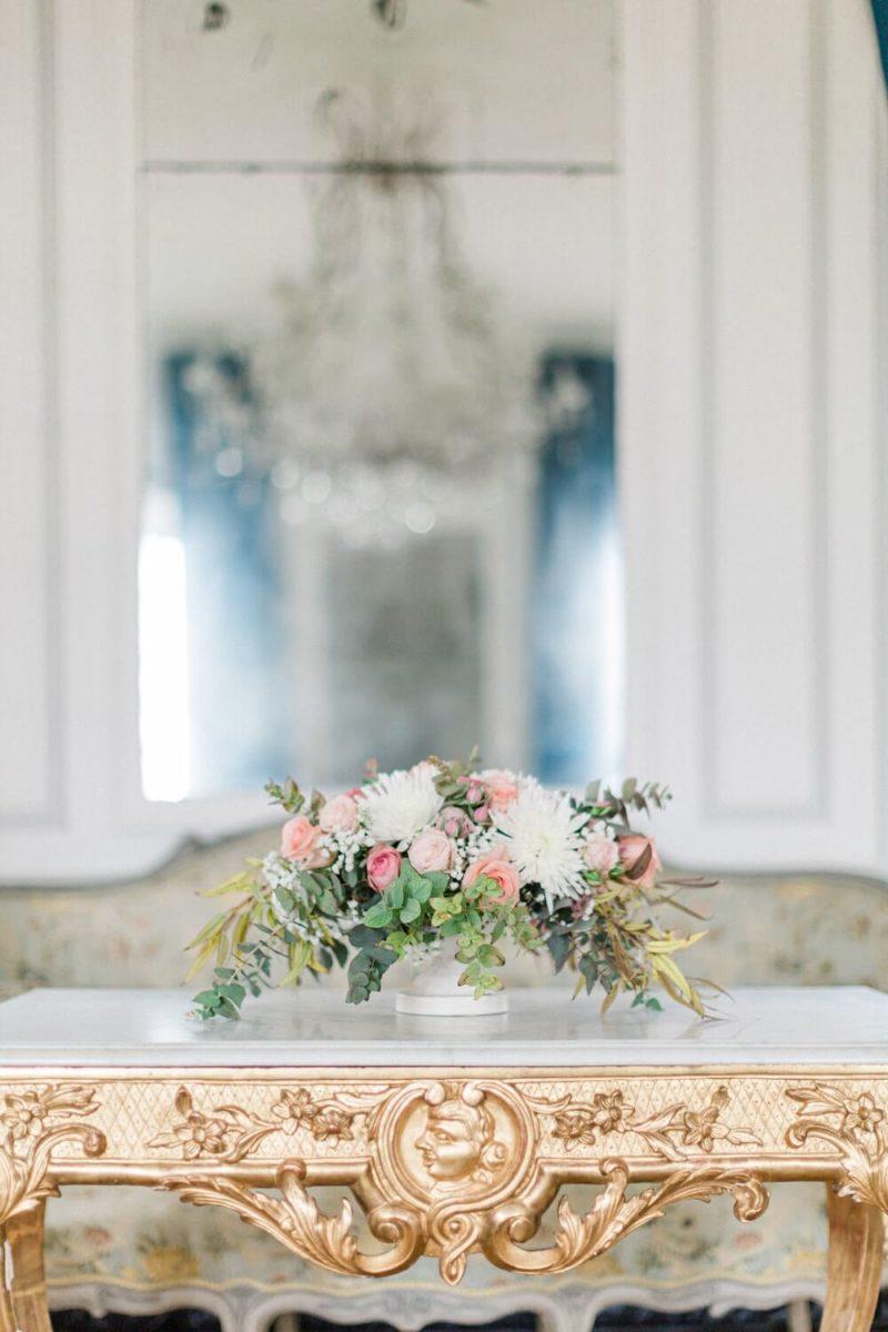 bouquet de fleur de mariée au chateau le buisson garembourg