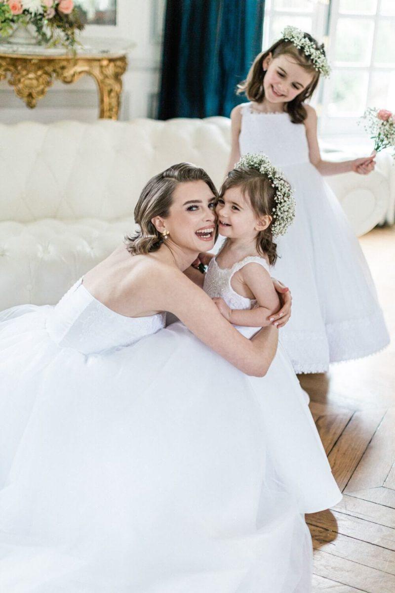 mariée avec ses demoiselles d'honneur au chateau le buisson garembourg