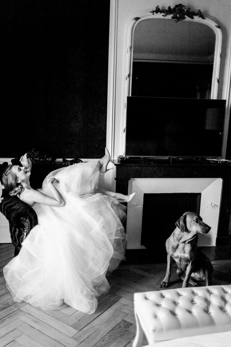mariée assise au chateau le buisson garembourg