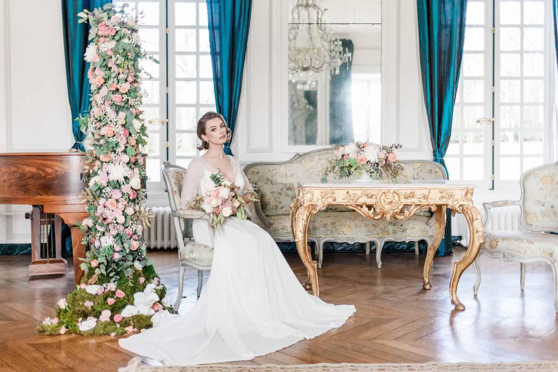 mariée assise