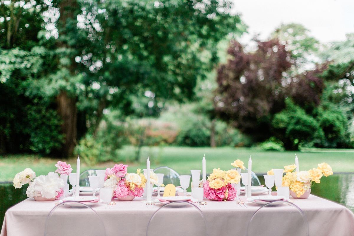 table et decoration florale mariage
