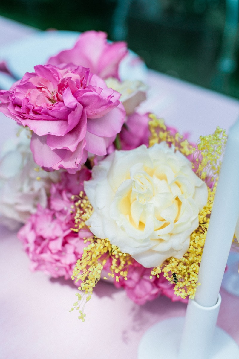 fleurs table mariage