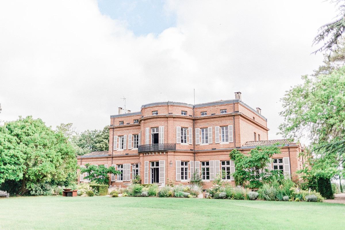 façade arriere du chateau de roquefoulet