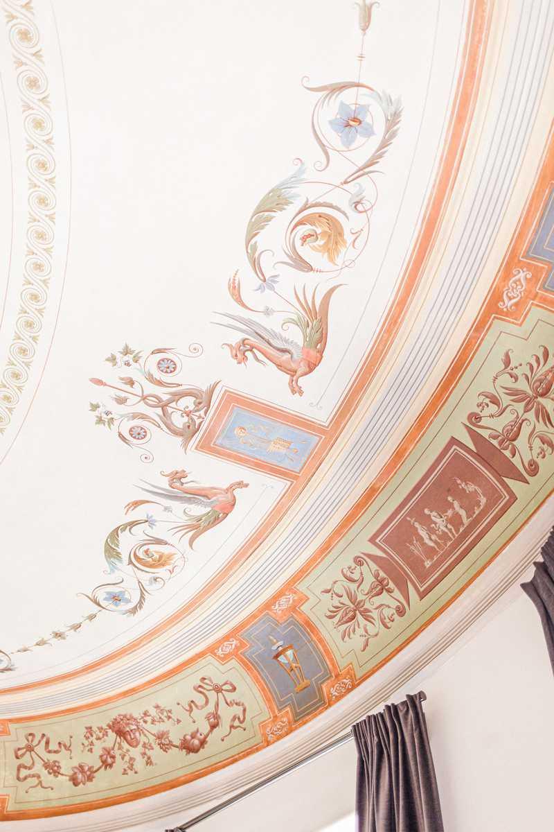 peinture du plafond du chateau roquefoulet
