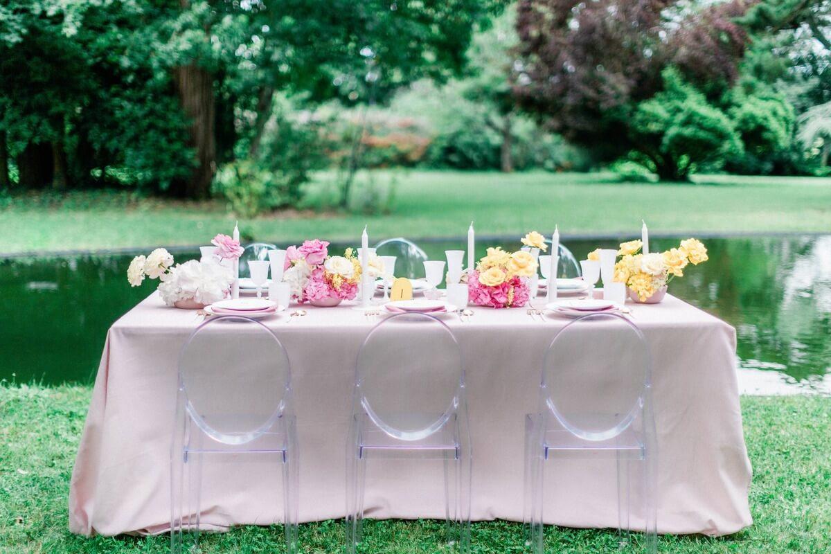 table de mariage au chateau de roquefoulet