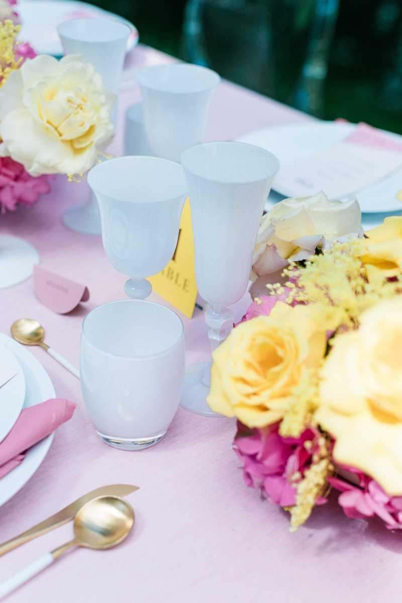 verre table de mariage option