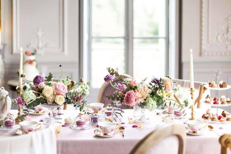 table de mariage au château de la baronnie