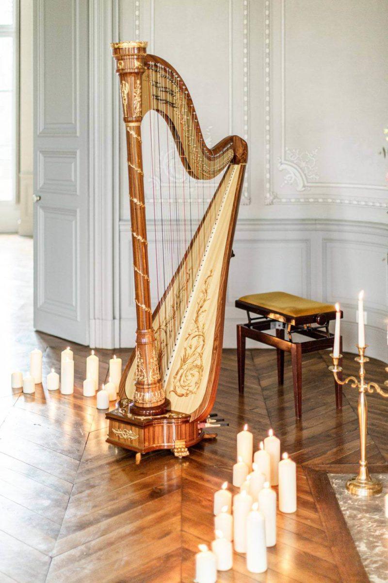 harpe au château de la baronnie