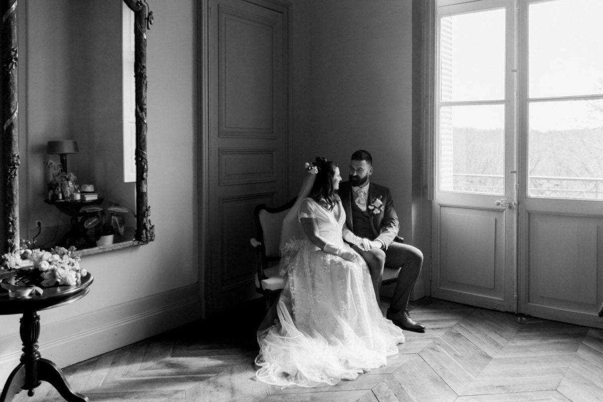 seance photo couple au château