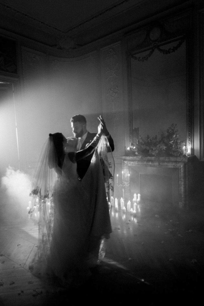 danse mariés au chateau