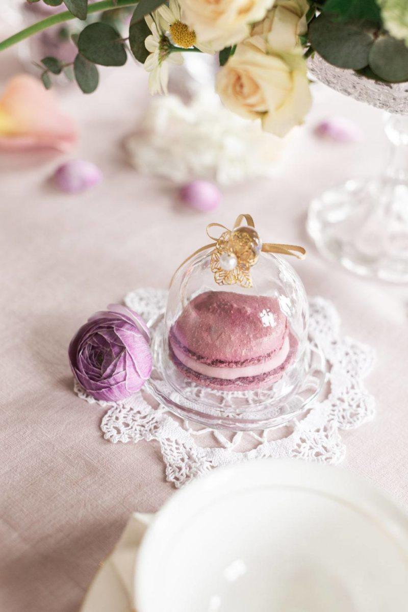 macaron sur table mariage au château de la baronnie