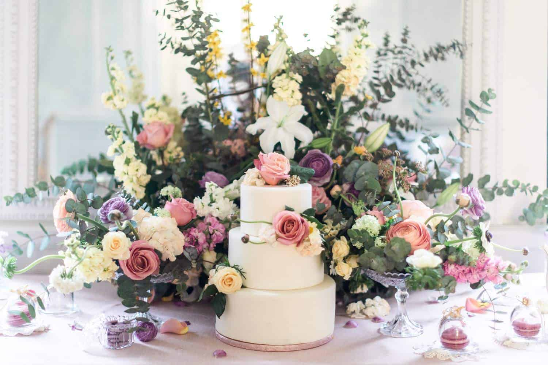 wedding cake au chateau de la baronnie