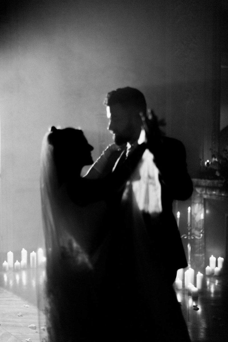 premier danse à la baronnie photo noir et blanc