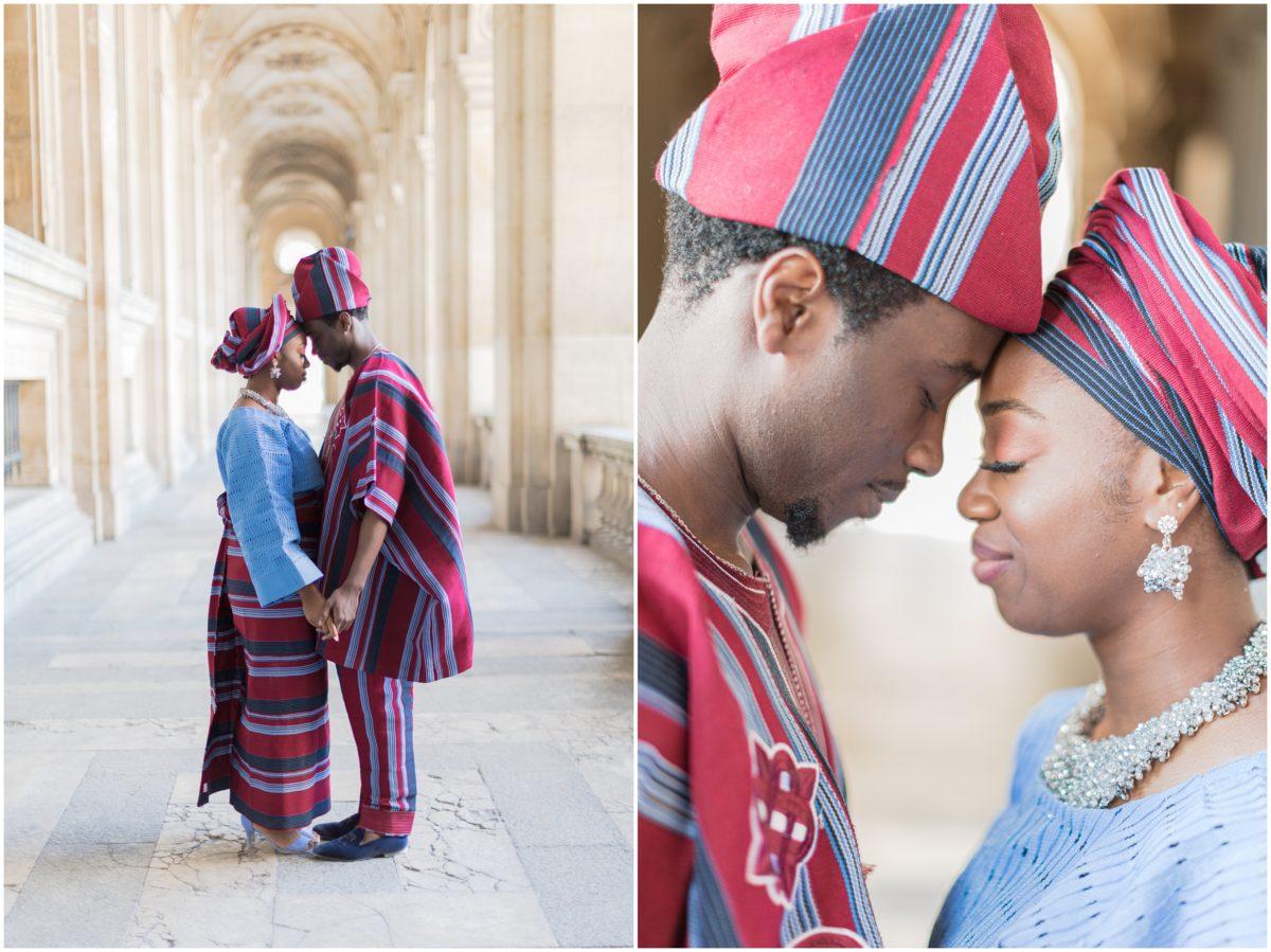 dyptique d'un couple en tenue traditionnelle